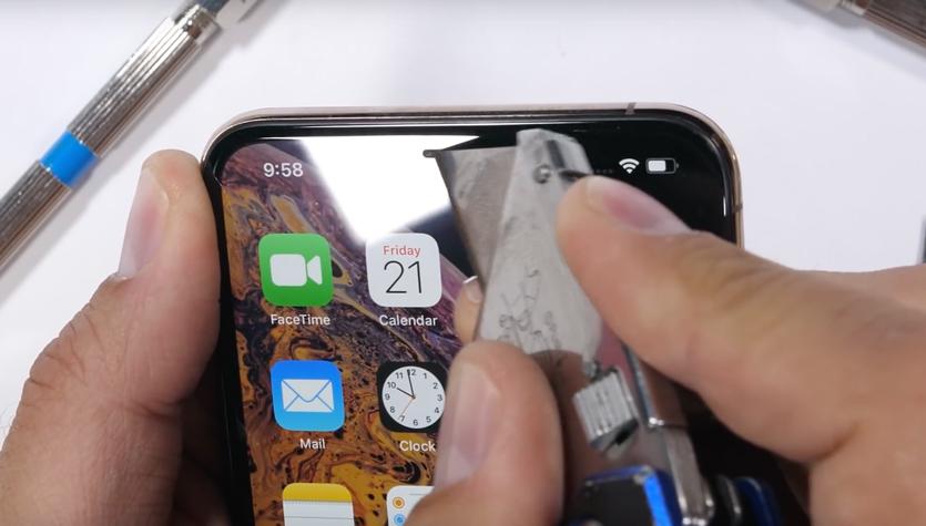 В iPhone XS Max установлено такое же защитное стекло, как и в iPhone X