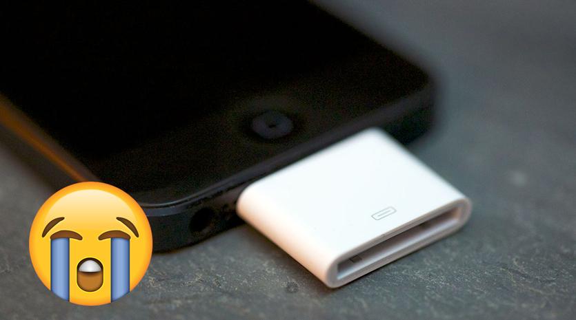 Ушла эпоха. Apple прекратила продажи адаптера 30-pin на Lightning
