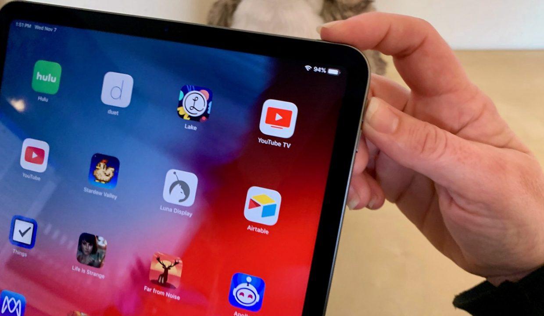 Как сделать скриншот на iPad Pro 2018
