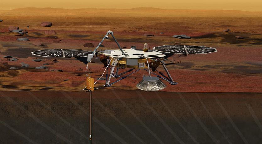 NASA опубликовала первые звуки с Марса