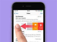 Как удалять письма свайпом в приложении Почта на iPhone