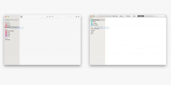 Так выглядит приложение Музыка в новой macOS