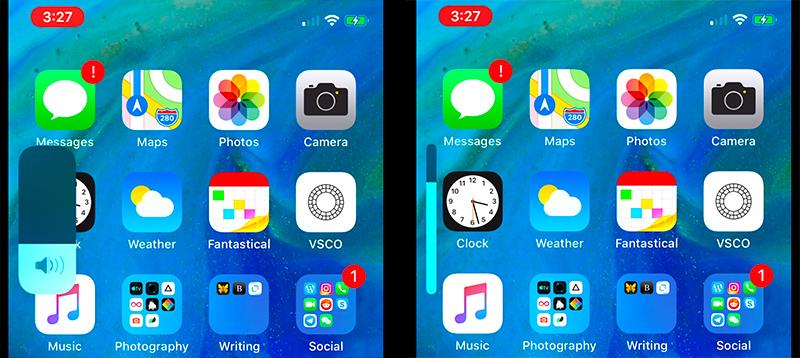 Ползунок громкости в iOS 13 стал совершенно другим
