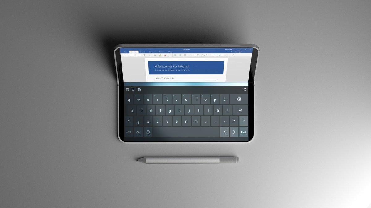 Microsoft готовит складной планшет Surface с двумя экранами