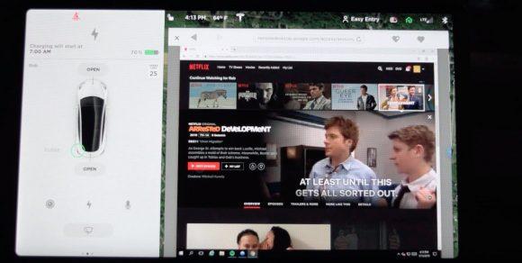 Скоро во всех Tesla появится стриминг YouTube и Netflix