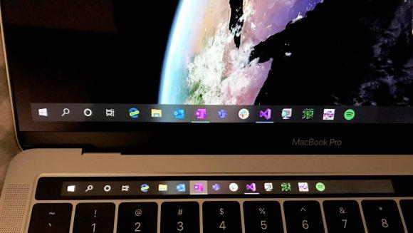Touch Bar полноценно заработал на Windows 10. Спасибо разработчику