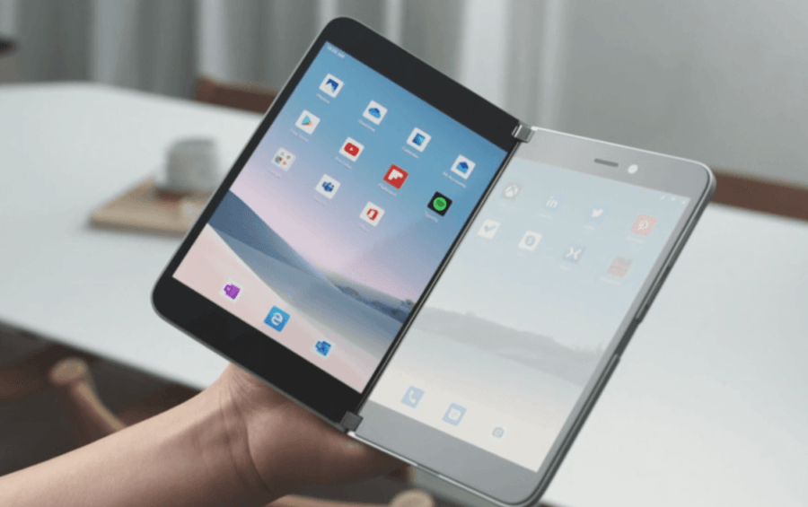 Microsoft внезапно показала смартфон Surface Duo с двумя экранами и на Android