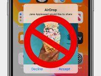 Почему iPhone не может передать файлы через AirDrop