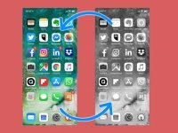 Почему изображение на экране iPhone стало черно-белым