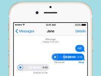 Как сохранять голосовые сообщения в iMessage