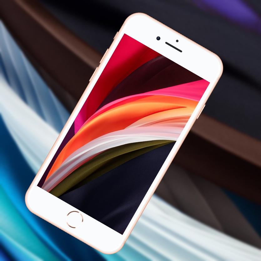 Скачайте обои с нового iPhone SE