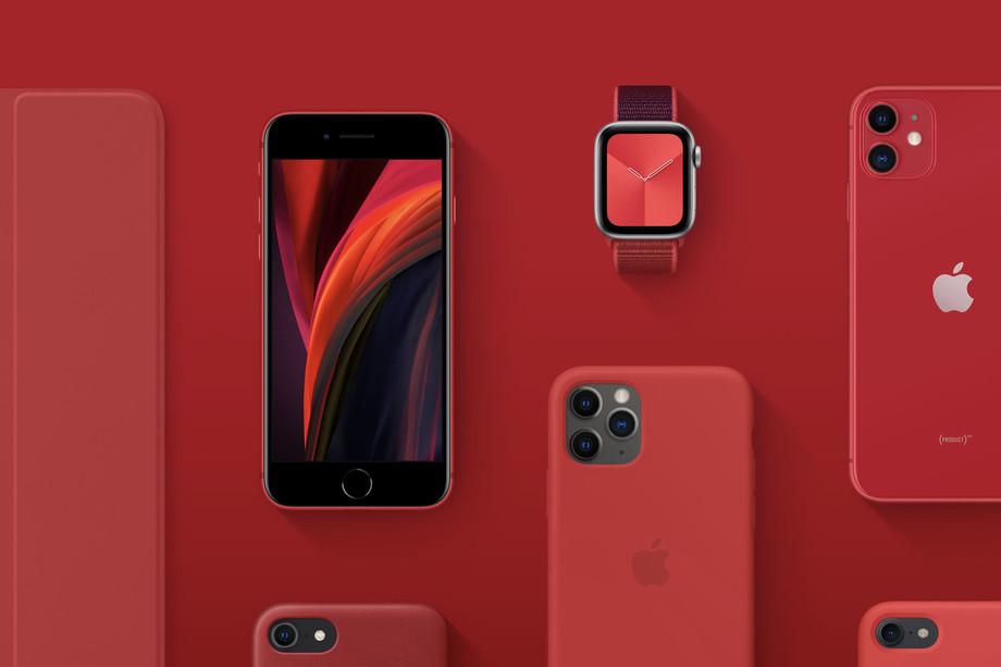Apple перечислит часть доходов от красных iPhone и аксессуаров в фонд борьбы с COVID-19