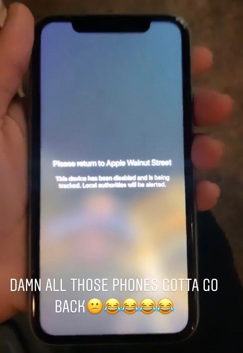Apple заблокировала все украденные iPhone в США и передаст полиции информацию об их местоположении