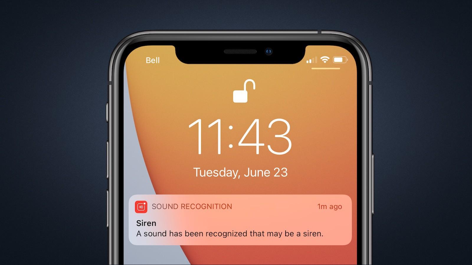 В iOS 14 добавили уведомления о тревожных звуках типа пожарной сигнализации