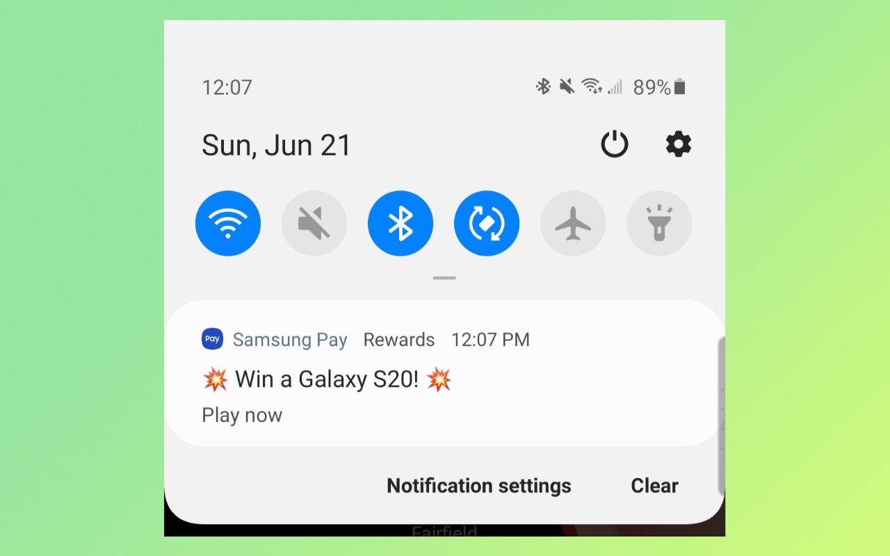 Samsung опять отправляет бесполезные рекламные уведомления насмартфоны Galaxy