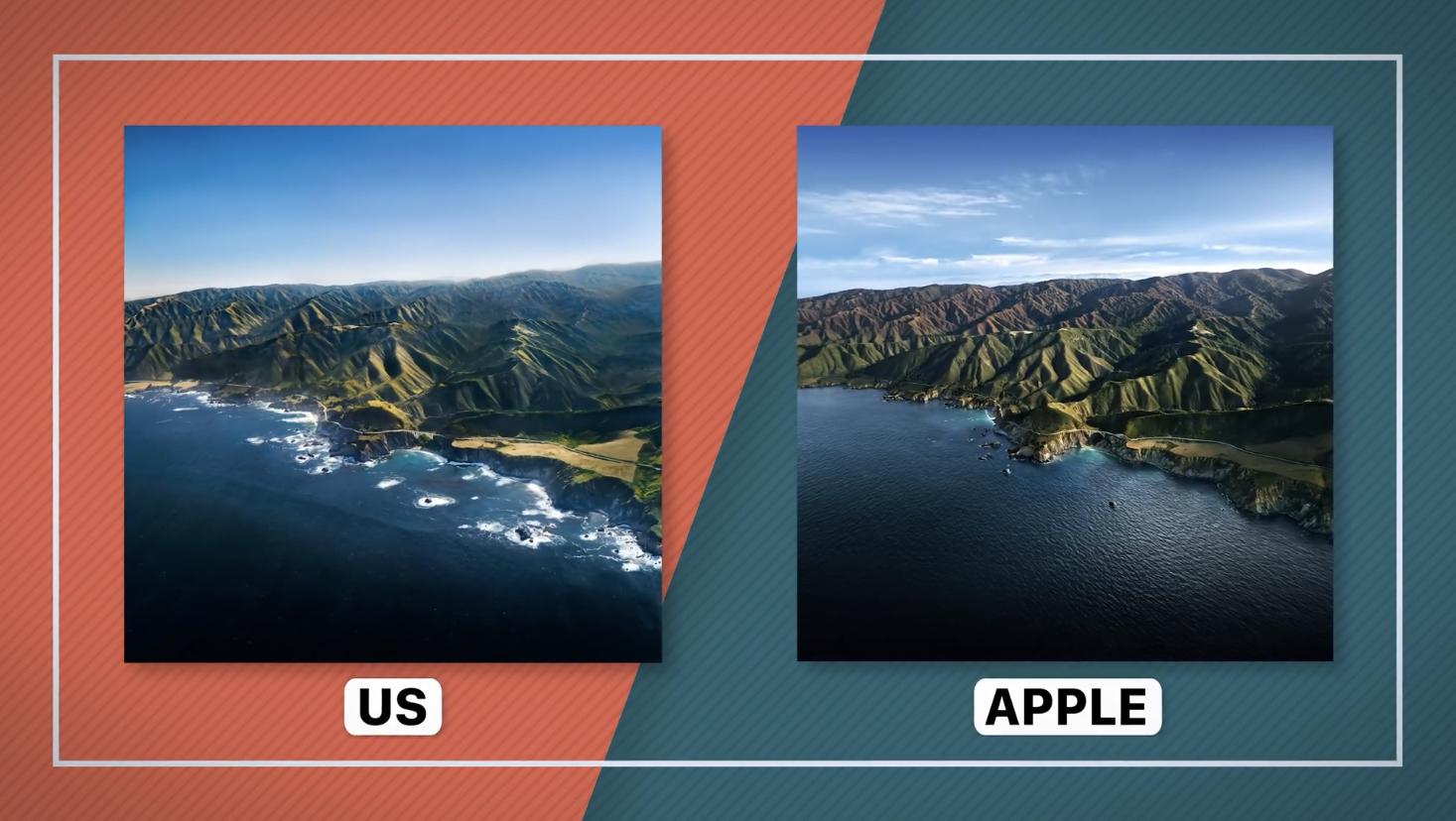 Три друга воссоздали фотографию места с обоев macOS Big Sur