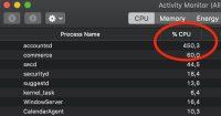 Как исправить повышенную нагрузку процессора в macOS Catalina