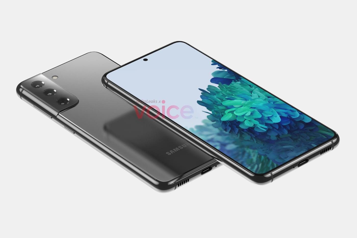 Появились первые рендеры Samsung Galaxy S21 с новым модулем камеры