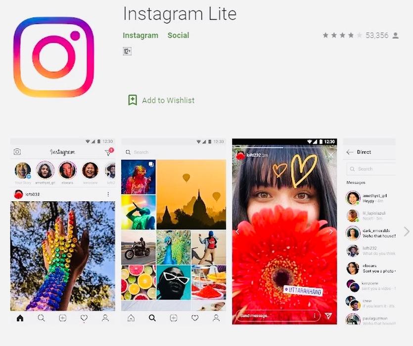 Появилась лёгкая версия Инстаграма, Instagram Lite. Весит всего 2 мегабайта