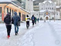 В Москве наконец-то сугробы! Посмотрим, как камеры iPhone12ProMax вытянули снег, мороз и солнце…