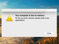 На Mac появляется ошибка «На компьютере недостаточно памяти». Что делать?