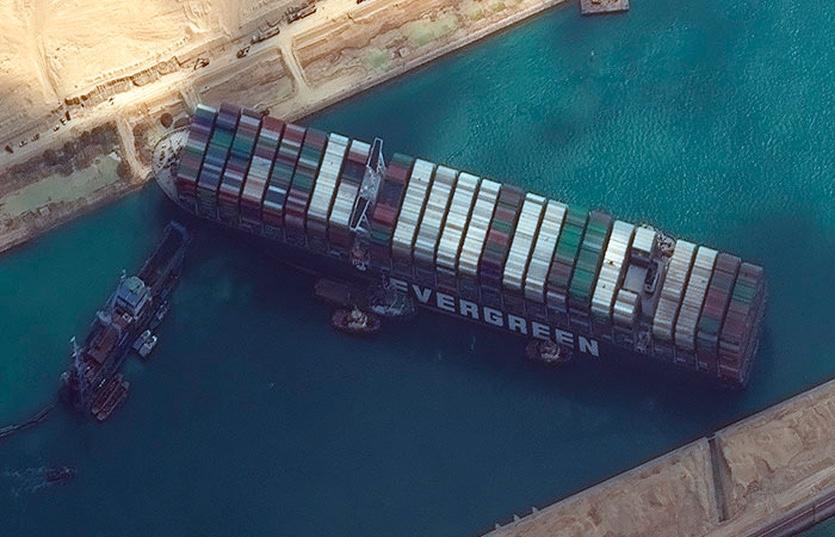 Корабль Ever Given застрял в Суэцком канале. Экономика сыпется, ВМФ США вылетели спасать - PCNEWS.RU