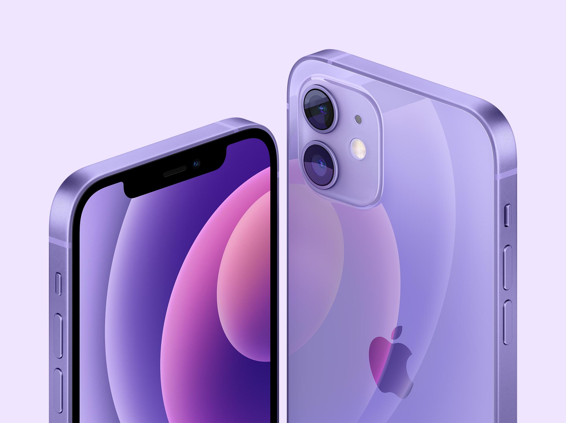 Apple представила iPhone 12 и iPhone 12 mini в новом фиолетовом цвете