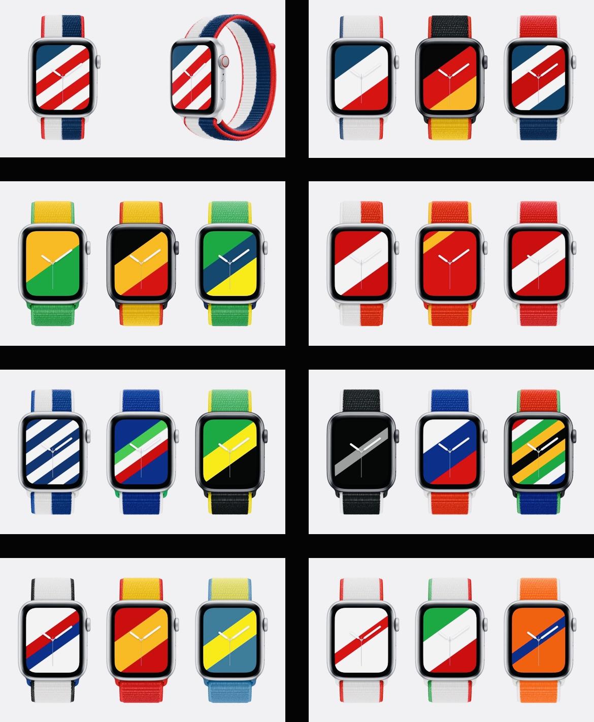 Apple запускает ремешки и циферблаты в стиле флагов разных стран. Есть для России