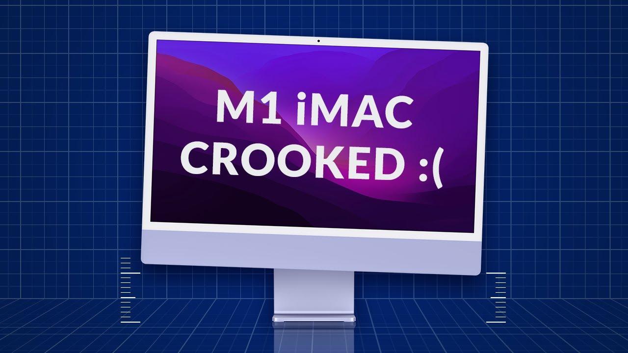 В iMac с M1 нашли необычный брак. У него кривая подставка