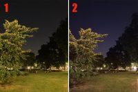 Есть два смартфона, не скажем какие. Кто справился лучше с ночной съёмкой?