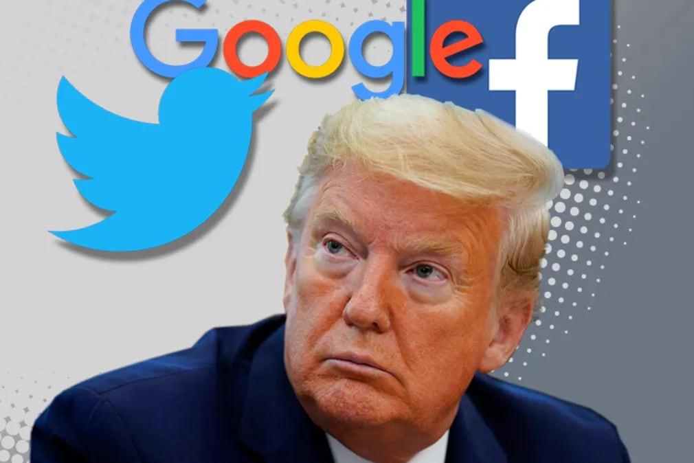 Трамп подал в суд на Google, Twitter, Facebook и их руководителей после того, как его забанили в соцсетях