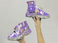 Художник сделал коллаб кроссовок Nike с коробками от гамбургеров Mc'Donalds и группой BTS