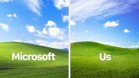 Трое друзей воссоздали легендарные обои Windows XP спустя 25 лет